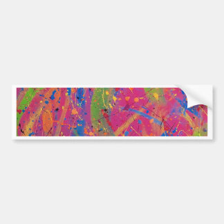Pink/Purple Abstract Bumper Sticker