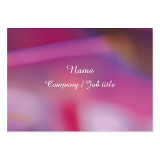 Pink Purple Abstract Energic Vital Businesscard Large Business Card