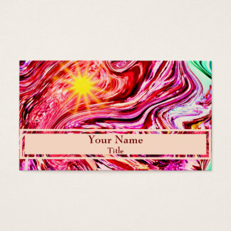 Pink purple abstract stained glass design business card