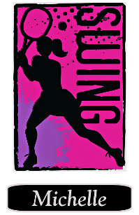 Pink Purple Abstract Tennis Girl Personalized Nike Backpack 72383130e56f1