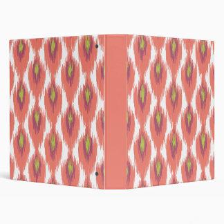 Pink Purple Abstract Tribal Ikat Diamond Pattern 3 Ring Binders