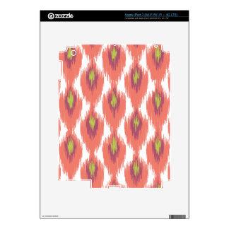 Pink Purple Abstract Tribal Ikat Diamond Pattern Decal For iPad 3