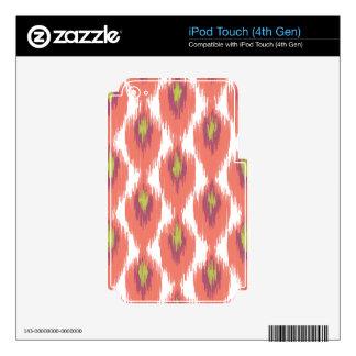 Pink Purple Abstract Tribal Ikat Diamond Pattern iPod Touch 4G Skin
