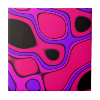 pink purple and black abstract ceramic tile