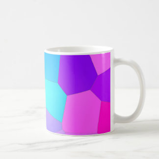 Pink, Purple and Blue Abstract Facets Coffee Mug