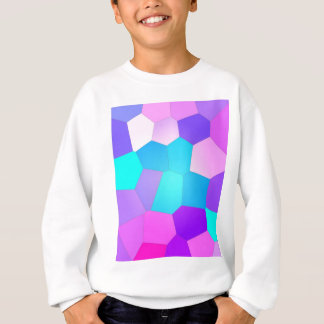 Pink, Purple and Blue Abstract Facets Sweatshirt