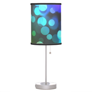 Pink, Purple and Blue Bubble Lampshade Desk Lamp