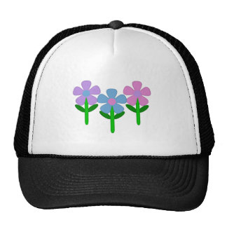 Pink Purple and Blue Flowers Trucker Hat