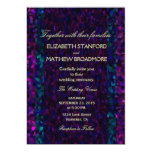 "Pink, Purple and Blue Gitter 5"" X 7"" Invitation Card"