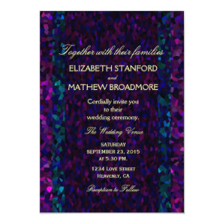 Pink, Purple and Blue Gitter Personalized Invitation Cards