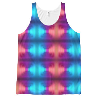 Pink, Purple And Blue Gradient Pattern All-Over-Print Tank Top