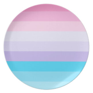 Pink, Purple, and Blue Ombre Melamine Plate