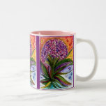 Pink purple and orange bouquet mug