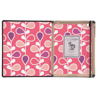 Pink, Purple and White Flower Pattern iPad Case