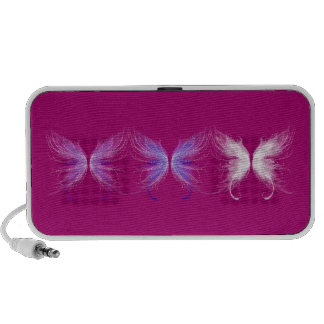 Pink Purple and White Wings Mp3 Speaker