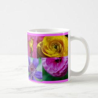 Pink, Purple, and Yellow Flowers Mug