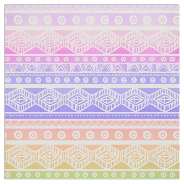 Beach Themed Pink Purple Aqua Aztec Tribal Pattern Fabric 2