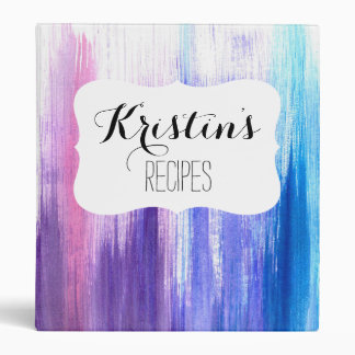 Pink purple aqua paint strokes watercolor painting binder