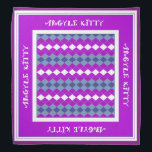 """Pink Purple Argyle Kitty Pet Bandana<br><div class=""""desc"""">This cute and stylish bandana,  featuring pink and purple colors,  is perfect for your favorite feline in the family. It also makes a nice gift for someone&amp;#39;s pet.</div>"""