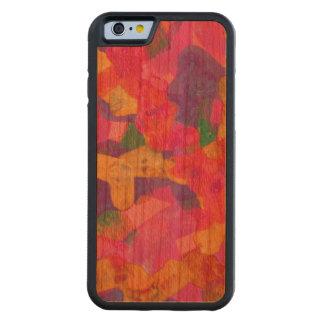 Pink Purple Art iPhone 6 Bumper Cherry Wood Case