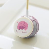 Pink Purple Baby Elephant Baby Shower Party treat Cake Pops
