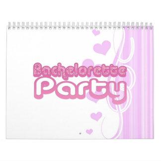 pink purple bachelorette wedding bridal party fun calendar