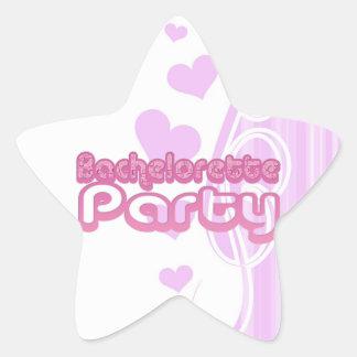 pink purple bachelorette wedding bridal party fun star sticker