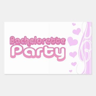 pink purple bachelorette wedding bridal party fun rectangular sticker