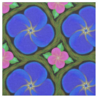 pink purple bight color flower and vine fabric