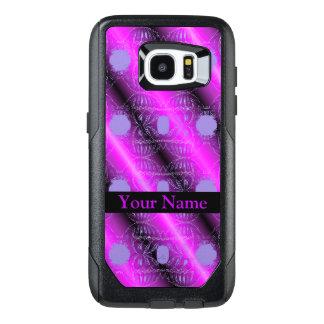 Pink Purple Black Abstract Design OtterBox Samsung Galaxy S7 Edge Case