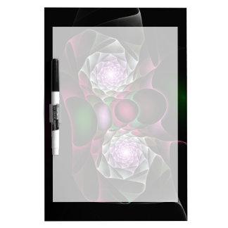 Pink Purple Black Bubbles and Eyes Fractal Art Dry-Erase Board