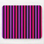Pink purple black striped - Mousepad