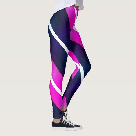 fcfff75e69ab9f Pink Purple Black White Stripes 4Jojo Leggings   Zazzle.com