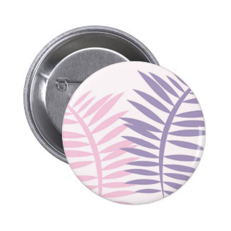 Pink & Purple Blades of Leaves 2 Inch Round Button