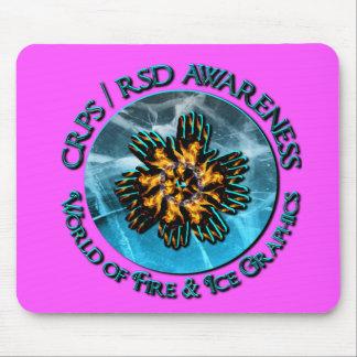 Pink Purple Blend CRPS  RSD Awareness World of Fir Mouse Pad