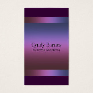 Pink Purple Blue Gradient on Plum Business Card