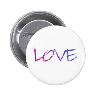 Pink, Purple, Blue Love Vintage 2 Inch Round Button
