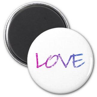 Pink, Purple, Blue Love Vintage 2 Inch Round Magnet