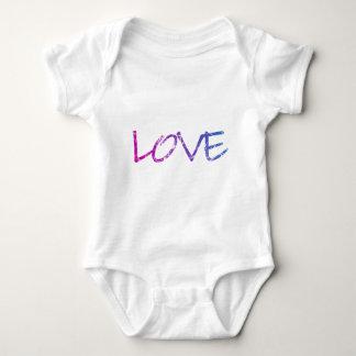 Pink, Purple, Blue Love Vintage Baby Bodysuit