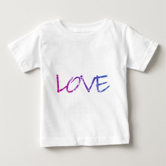 Pink, Purple, Blue Love Vintage Baby T-Shirt