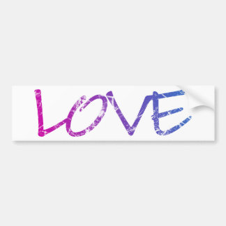 Pink, Purple, Blue Love Vintage Bumper Sticker