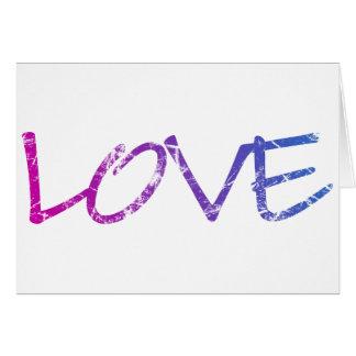 Pink, Purple, Blue Love Vintage Card
