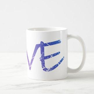 Pink, Purple, Blue Love Vintage Coffee Mug