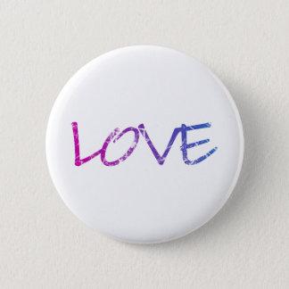 Pink, Purple, Blue Love Vintage Pinback Button