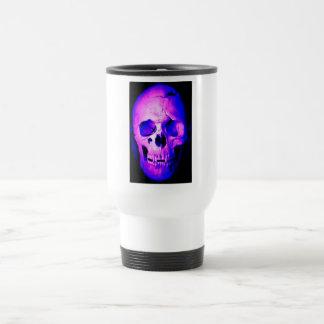 Pink Purple Blue Skull Travel Mug