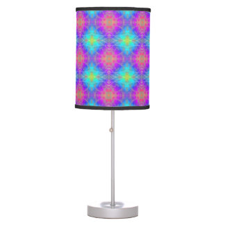 Pink, Purple, Blue, Turquoise Psychedelic Decor Desk Lamps