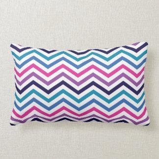 Pink Purple Blue Zigzag Chevron Pillows