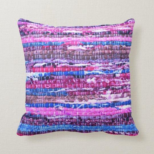 Pink Purple Decorative Pillows : Pink - Purple Boho Yarn Throw Pillow Zazzle