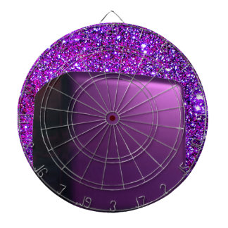 Pink Purple Box Glittery Girlie Fashion Dartboard