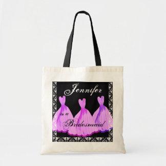 PINK & PURPLE Bridesmaid Dresses Tote Bag